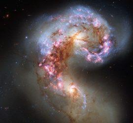 Antennae Galaxies. Hubble Space Telescope